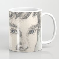 sherlock Mugs featuring Sherlock by Pendientera