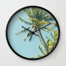 Kenolio Beach Hawaiian Coconut Palm Trees Kīhei Maui Hawaii Wall Clock