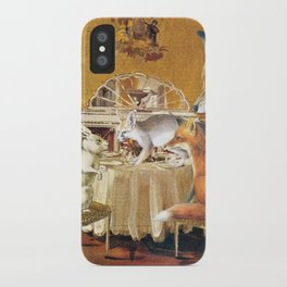 Tiny as a soul, there comes the rabbit iPhone Case