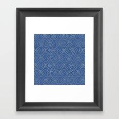 Sea Swirls Framed Art Print