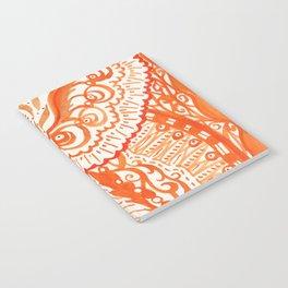 orange brushstroke Notebook