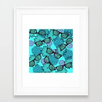 sunglasses Framed Art Prints featuring Sunglasses by Mad And Zo Designs