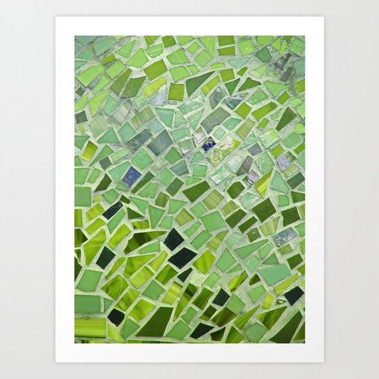 New Growth Mosaic Art Print