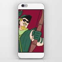 green arrow iPhone & iPod Skins featuring Green Arrow by Chelsea Herrick