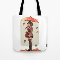 laia Tote Bags featuring Autumn by Laia™