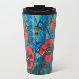 Garden of Poppies by Toni Wright Travel Mug