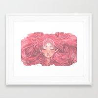 chibi Framed Art Prints featuring Chibi  by Kat Martin