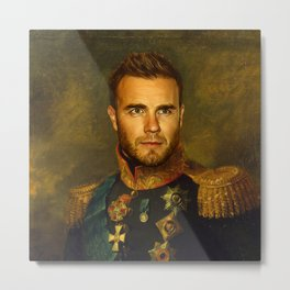 Gary Barlow - replaceface Metal Print