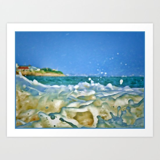 Close Wave!  Art Print