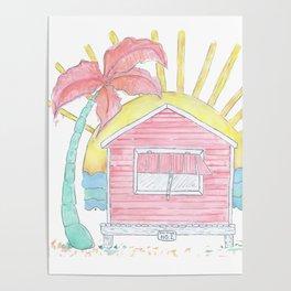 Beach Shack Vibes Poster