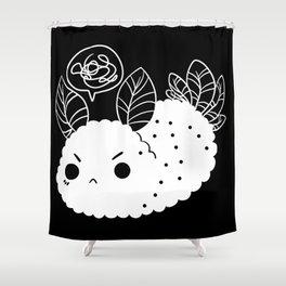 Angry Sea Slug Bunny Shower Curtain