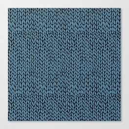 Hand Knit Niagra Blue Canvas Print