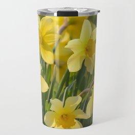 Yellow spring daffodil Photography Travel Mug