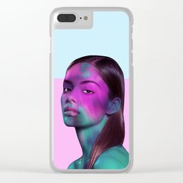 Psychedelic Babe Clear iPhone Case