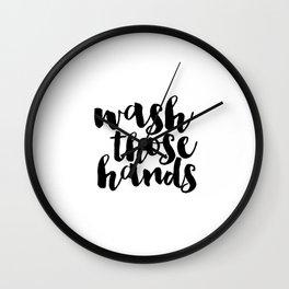 Bathroom art Bathroom sign Printable Hand lettered Nursery Decor kids Bathroom Wall art Print Wall Clock