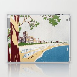 Vintage Nettuno Italy Travel Poster Laptop & iPad Skin