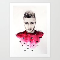 coconutwishes Art Prints featuring Eyes on Zayn  by Coconut Wishes
