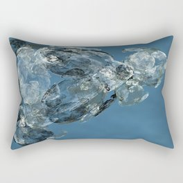 Blue Dog Rectangular Pillow