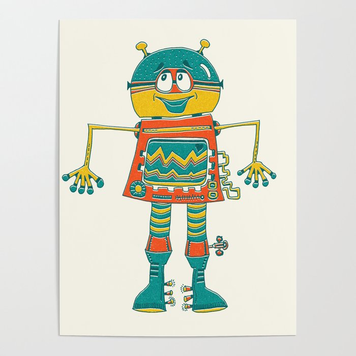 Robot Alien Monster No 104 Poster