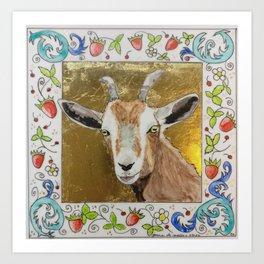 Bestiary Codex Goat Art Print