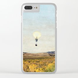 Birds Eye View Of Yellowstone Clear iPhone Case