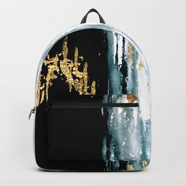 Teal and Gold Rain Backpack
