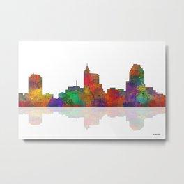 Raleigh, North Carolina Skyline Metal Print