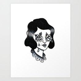 rosy eyed Art Print