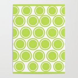 Green Circles on White Poster