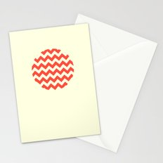 Chevron Full Circle Stationery Cards