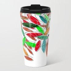 colored leaves Metal Travel Mug