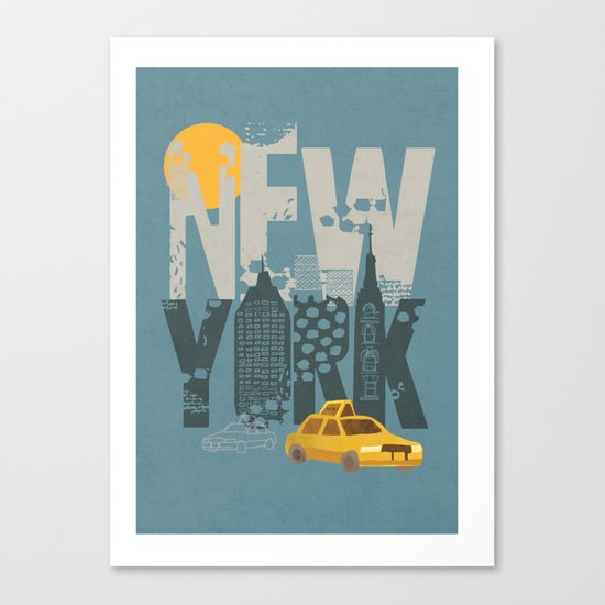 New York! New York! Canvas Print