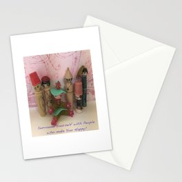 Surround Yourself Happy Stationery Cards