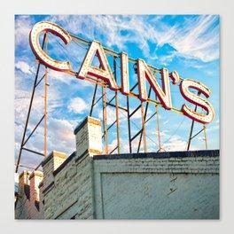 Cain's Ballroom Downtown Tulsa Oklahoma - Square Format Canvas Print