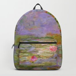 "Claude Monet ""Red Water Lilies"", 1919 Backpack"