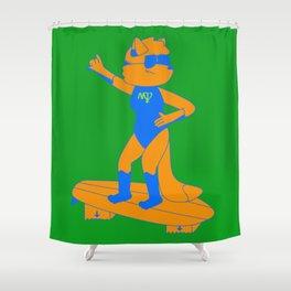 Surfing In Idaho Shower Curtain