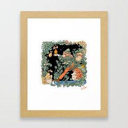 Golden Pear Framed Art Print