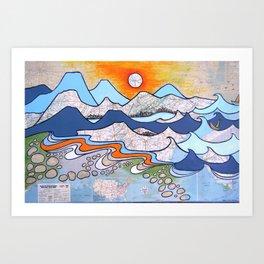 Mountains to Sea Art Print