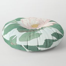 Water Lilies - Japanese vintage woodblock print Floor Pillow