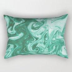 Eiji - modern minimal marbled ink paper monoprint printmaking japanese spilled ink artwork  Rectangular Pillow