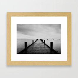 """""""ghost"""" boats on Lake Tahoe after a storm Framed Art Print"""