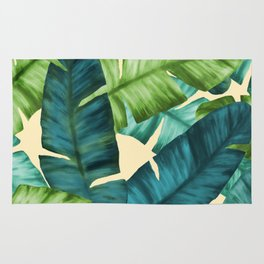 Tropical Banana Leaves Original Pattern Rug
