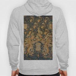 Vintage Golden Deer and Royal Crest Design (1501) Hoody