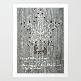 """""""O Holy Night"""" String Art Art Print"""