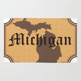 Michigan Retro Vintage Rug
