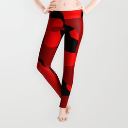Black and Red Camo abstract Leggings