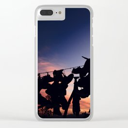 Strung up at Sunset Clear iPhone Case