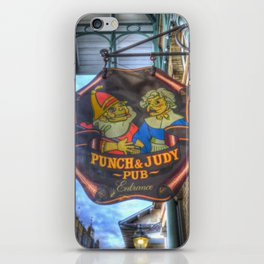 The Punch And Judy Pub Sign iPhone Skin