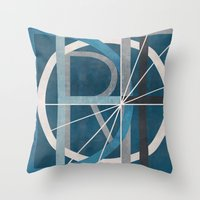 detroit Throw Pillows featuring Detroit by Katrina Berlin Design