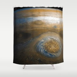 Jupiter's Great Red Spot from Junocam (2017) Shower Curtain